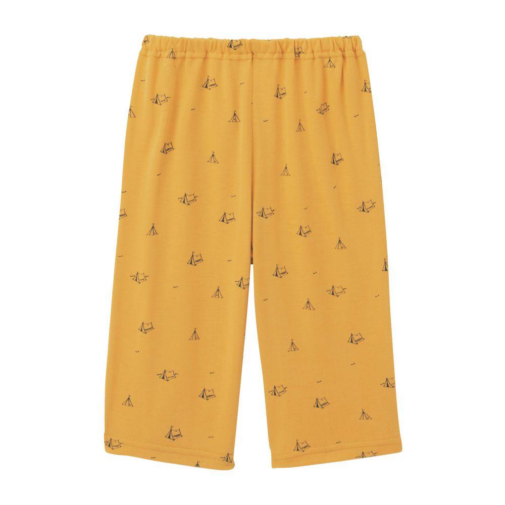 日本千趣會 - 接觸涼感舒適睡褲/家居長褲-帳篷-芥末黃