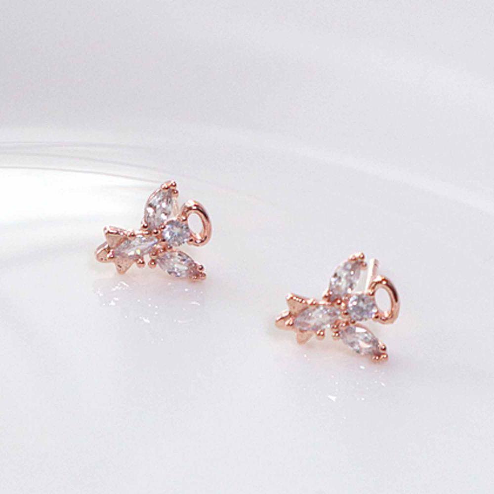 韓國製 - (925純銀)<愛的迫降>孫藝珍同款耳環-天使之星-玫瑰金