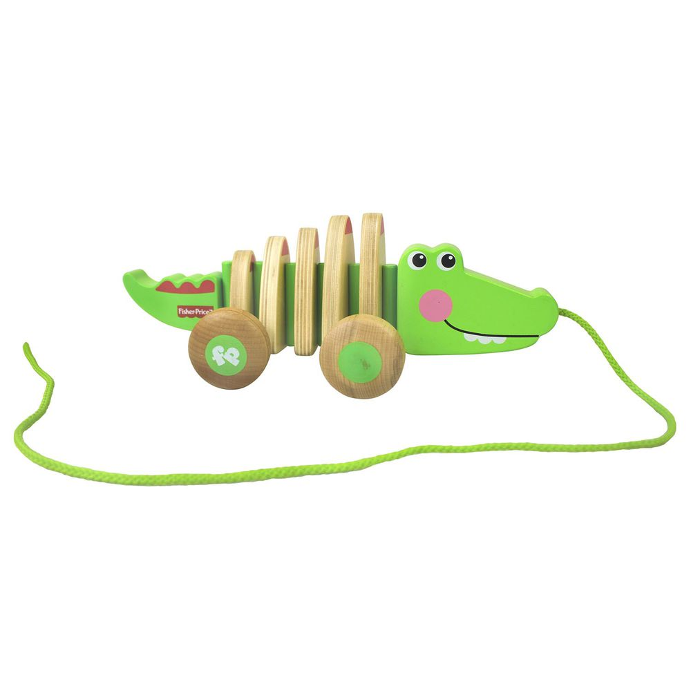 美國Fisher-Price 費雪 - 費雪鱷魚拖拉車
