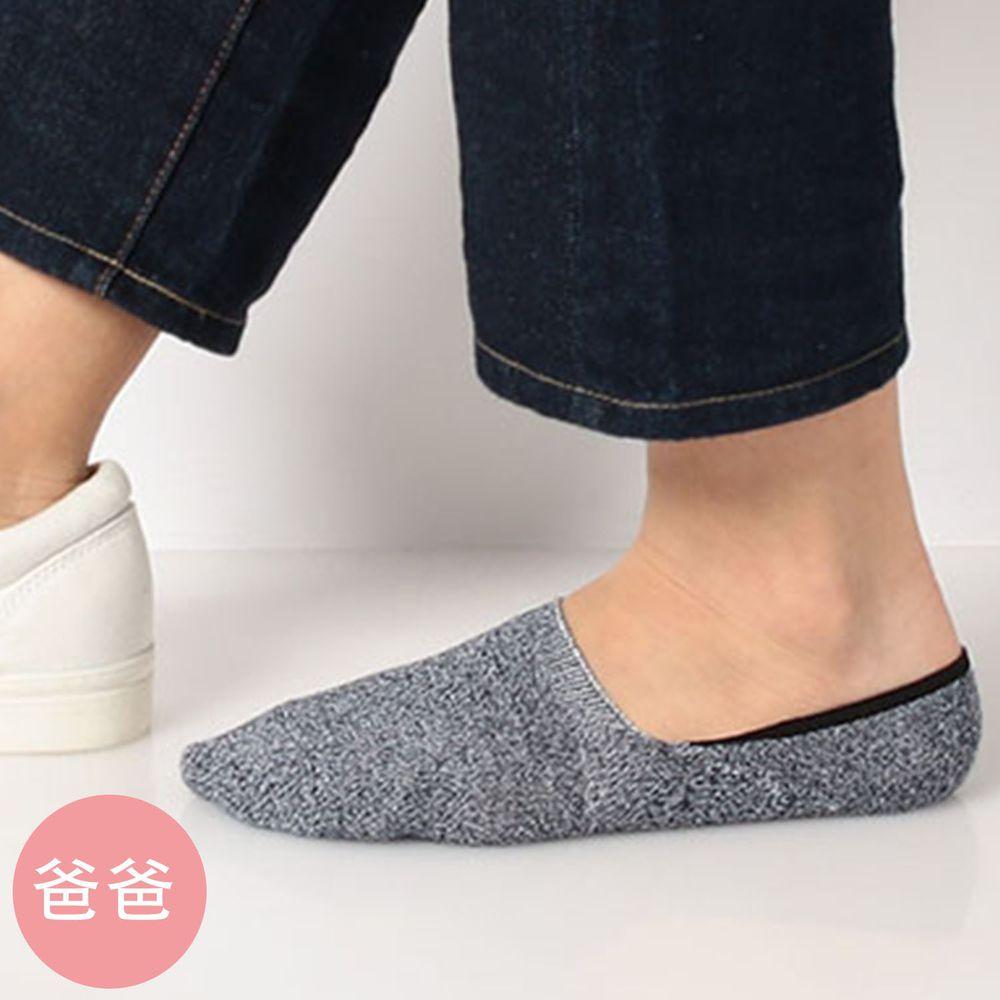 日本 okamoto - 超強專利防滑ㄈ型隱形襪(爸爸)-吸水速乾-深灰 (25-27cm)-棉混