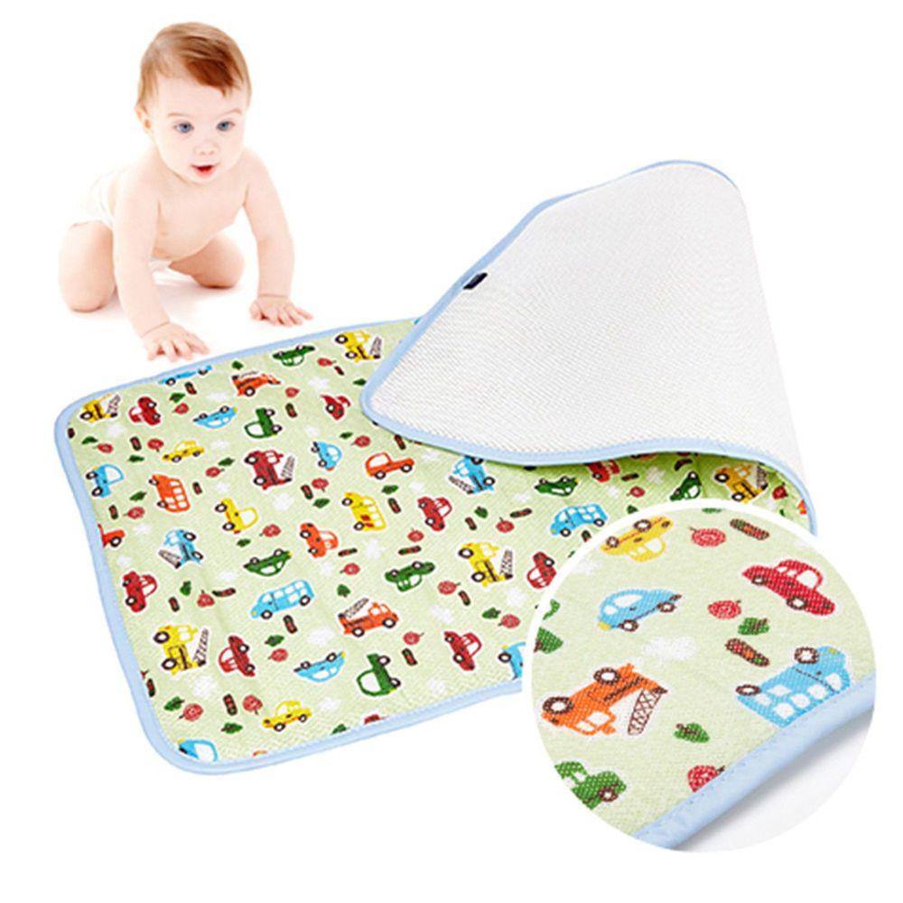 韓國 GIO Pillow - 超透氣排汗嬰兒床墊-趣味汽車 (L號)