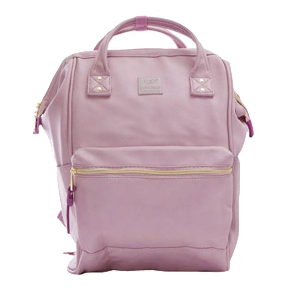 日本 Anello - 日本大開口皮革後背包-Regular大尺寸-LV薰衣紫