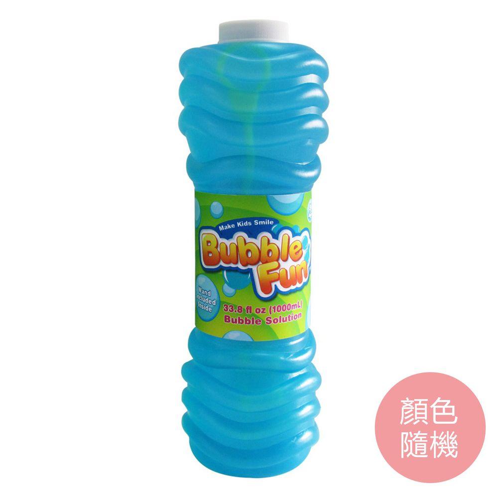 樂彩森林 - 泡泡補充罐1000ml-大(附吹泡泡棒)(顏色隨機)