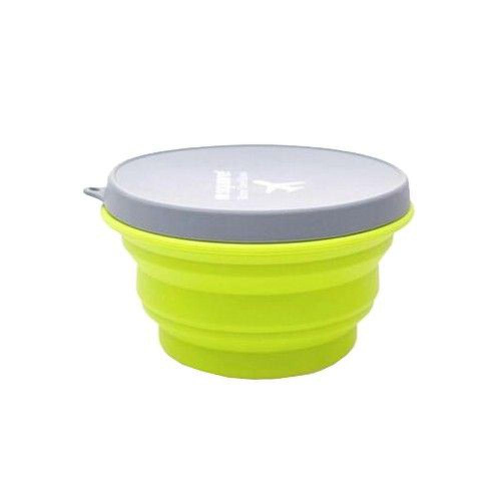 m square - 摺疊矽膠碗 L-綠色-1000ml