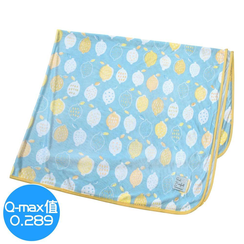 日本 DAIKAI - 接觸涼感毯-檸檬-藍黃 (100x140cm)