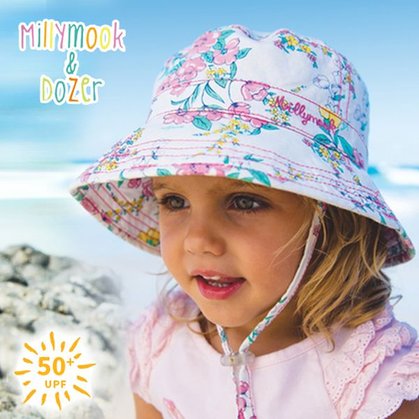 UPF50+防曬 ☀ 澳洲 Millymook & Dozer 雙面花色遮陽帽