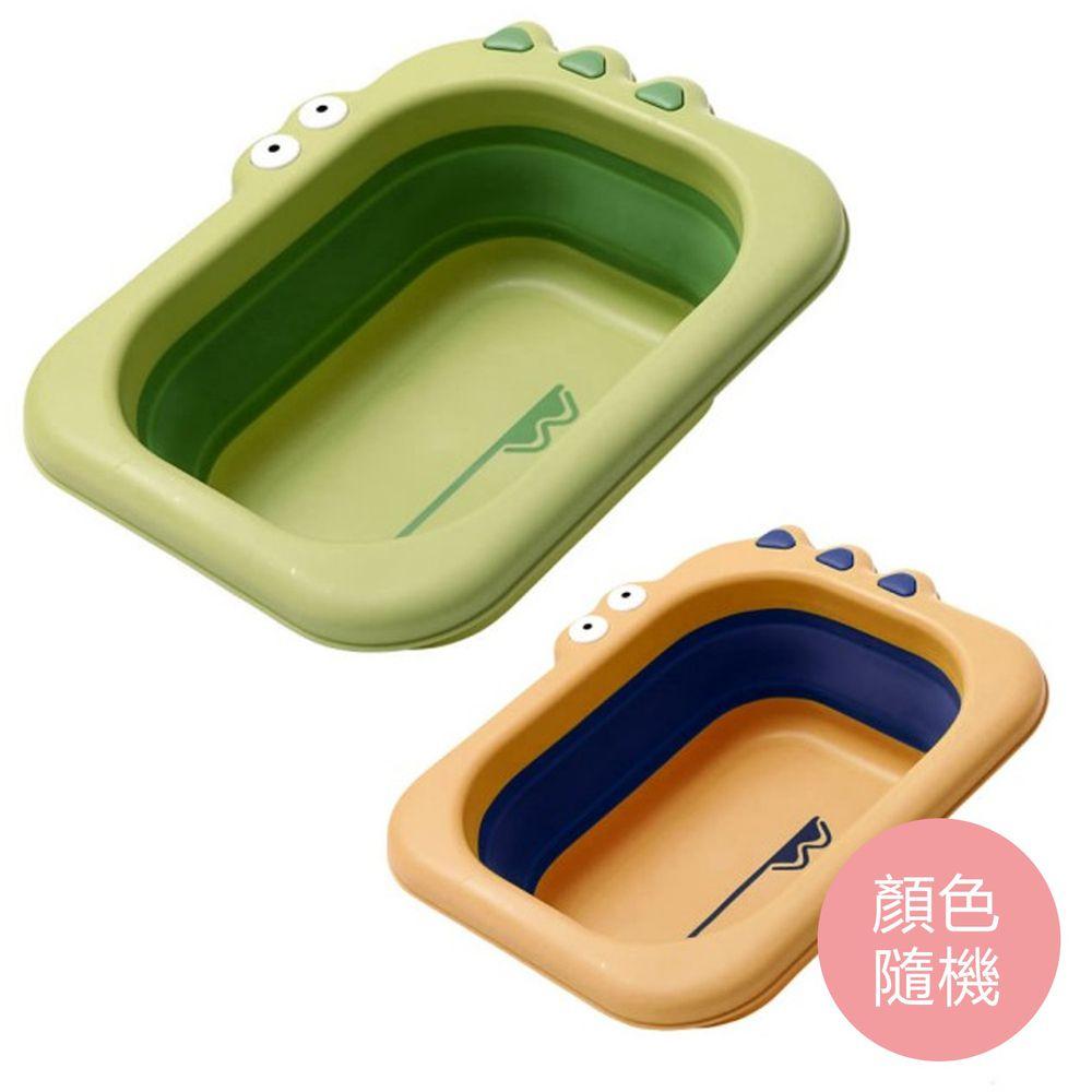 babyhood - 小鱷魚折疊小臉盆(2入組)-兩色隨機 (26x31x6cm)