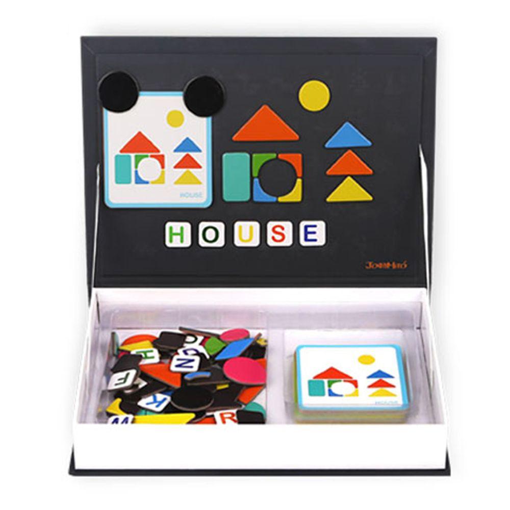 西班牙 JoanMiro - 磁性形狀字母學習遊戲盒