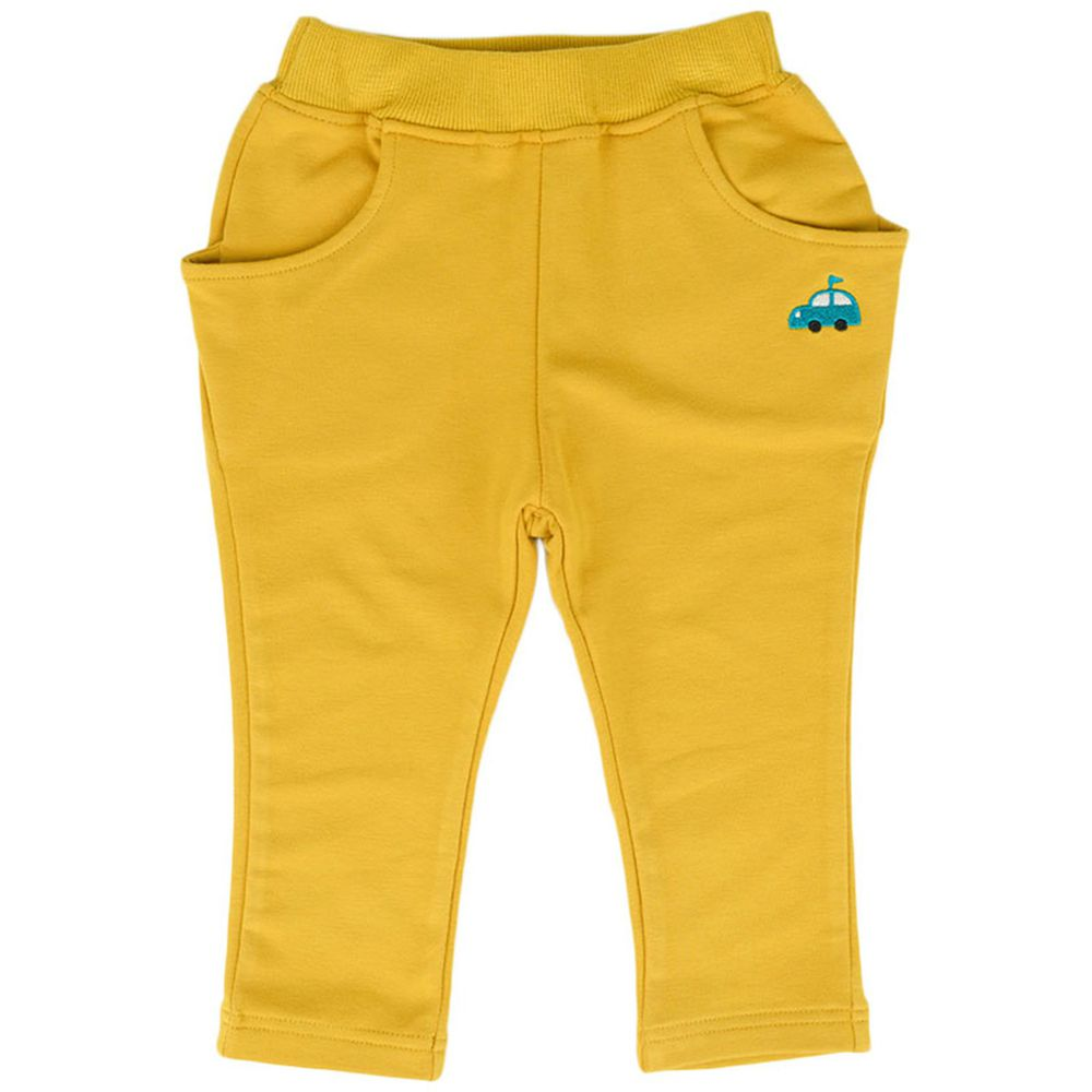 akachan honpo - 男10分馬褲-黃色