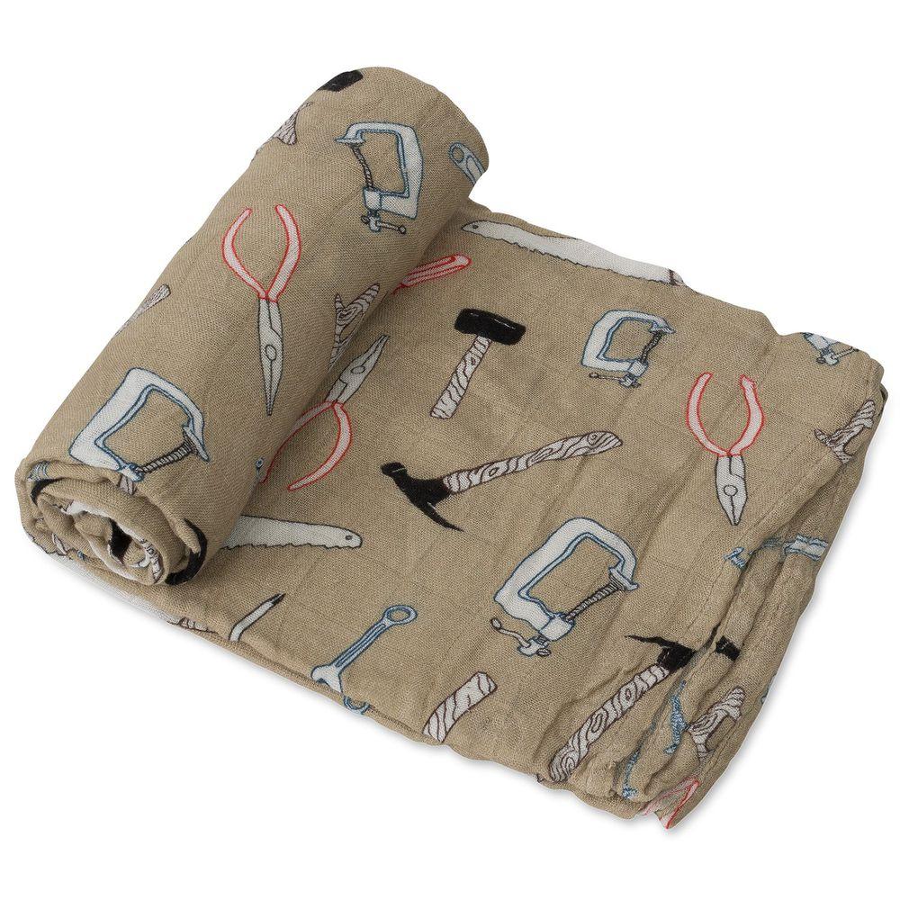 美國 Little Unicorn - 竹纖維紗布巾單入組-工具箱 (120x120CM)
