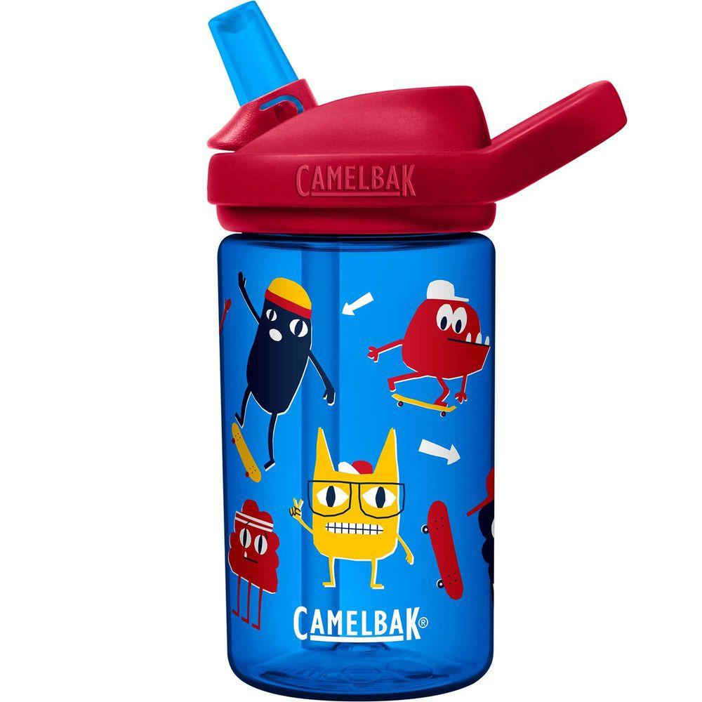 CamelBak - EDDY+ 兒童吸管運動水瓶-滑板怪獸 (400ml)-145g