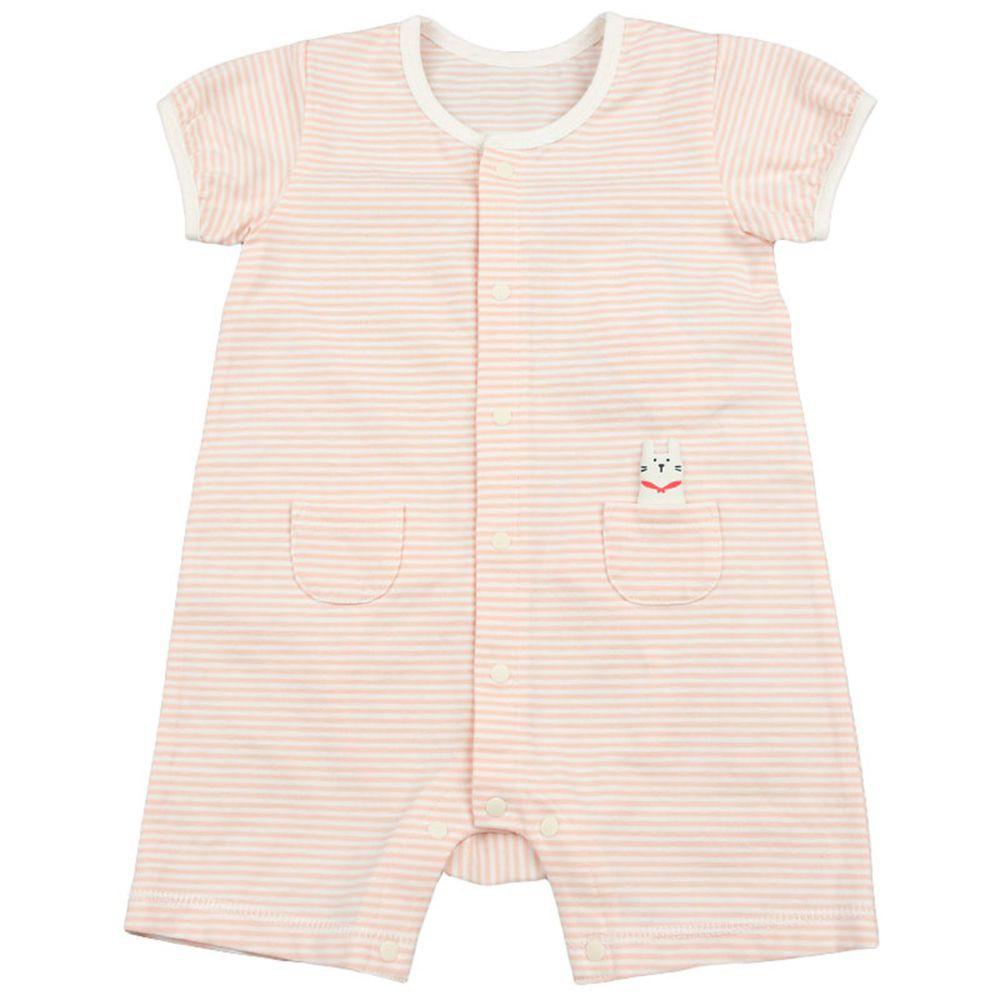 akachan honpo - 短袖兔裝-動物造型屁屁-粉紅色