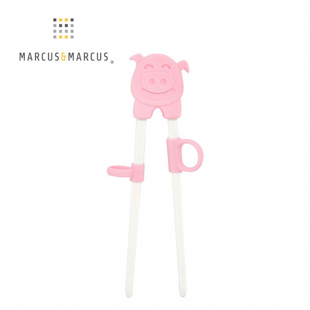 MARCUS&MARCUS - 動物樂園幼兒學習筷-粉紅豬
