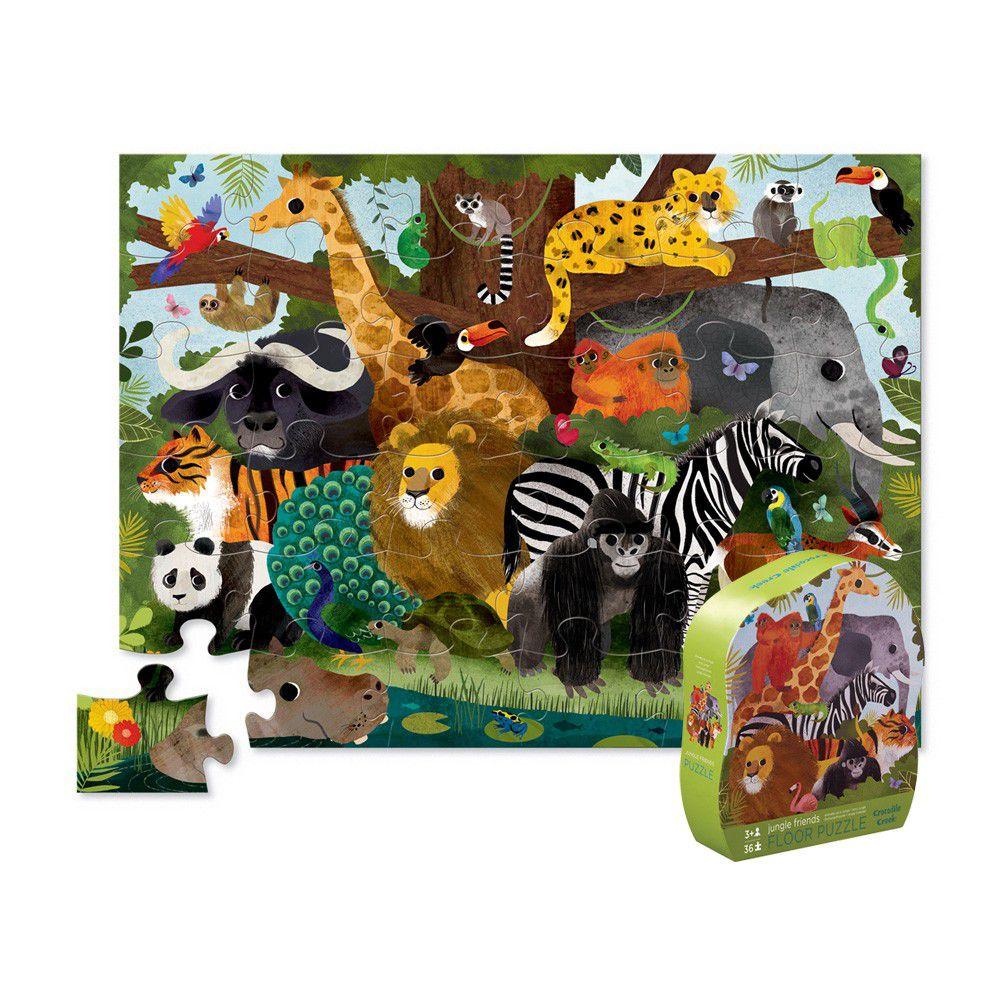 Crocodile Creek - 大型地板拼圖系列-叢林動物-36片-3歲以上