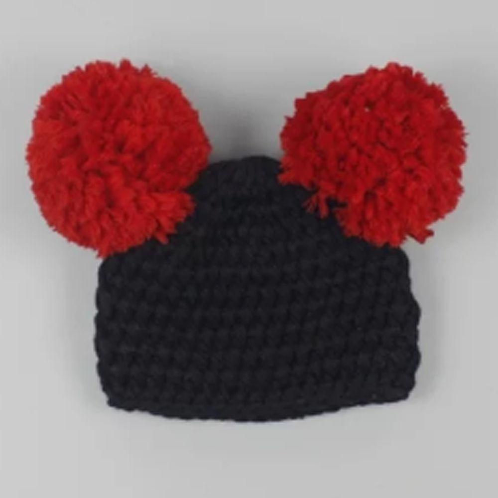 日安朵朵 - 嬰童針織毛線帽 - 大明星M先生 (0-12個月)