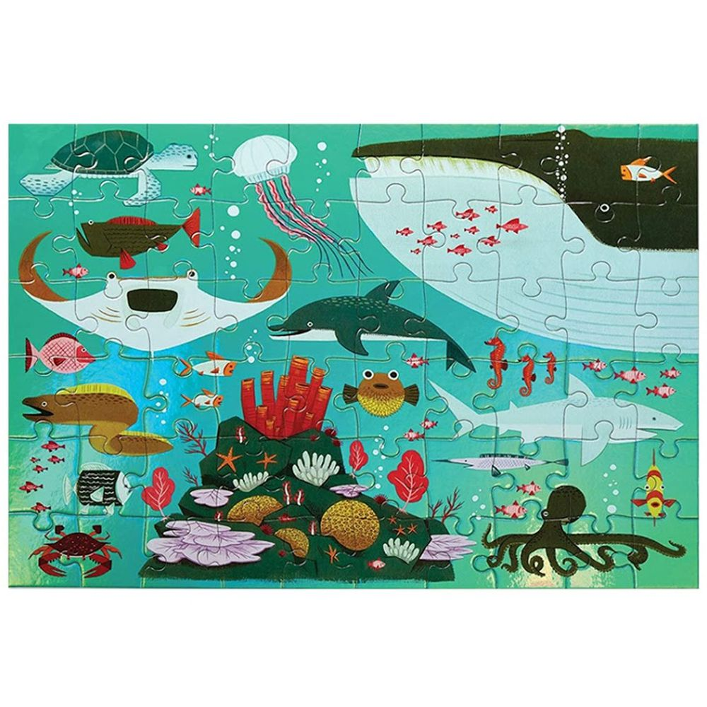 Crocodile Creek - 幻彩雷射拼圖-海洋世界-60片-4歲以上
