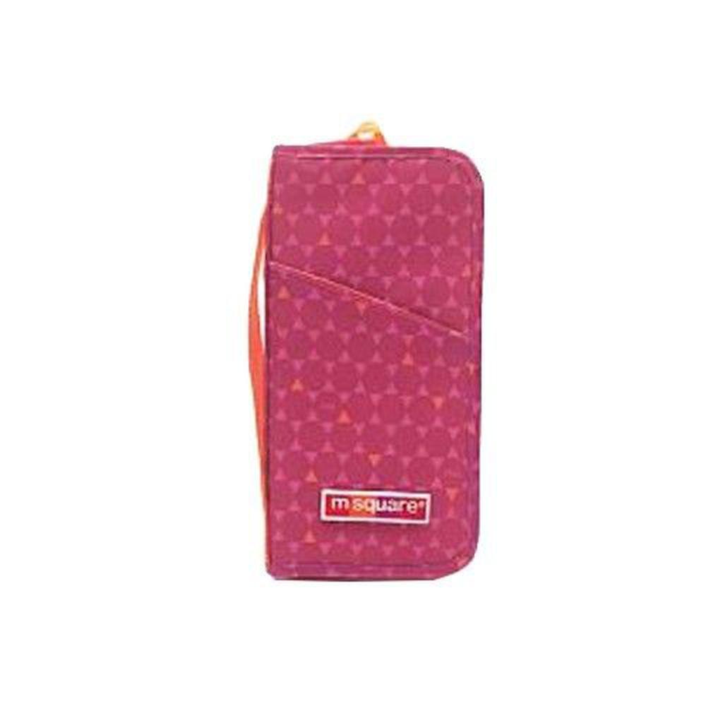 m square - 商旅系列Ⅱ-護照夾-紅色六角紋