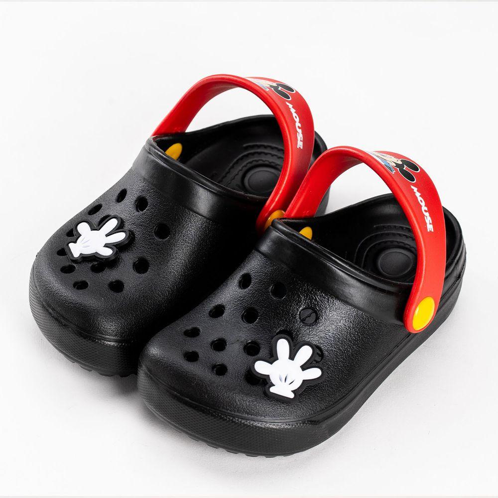 akachan honpo - 米奇造型防水休閒涼拖鞋-黑色