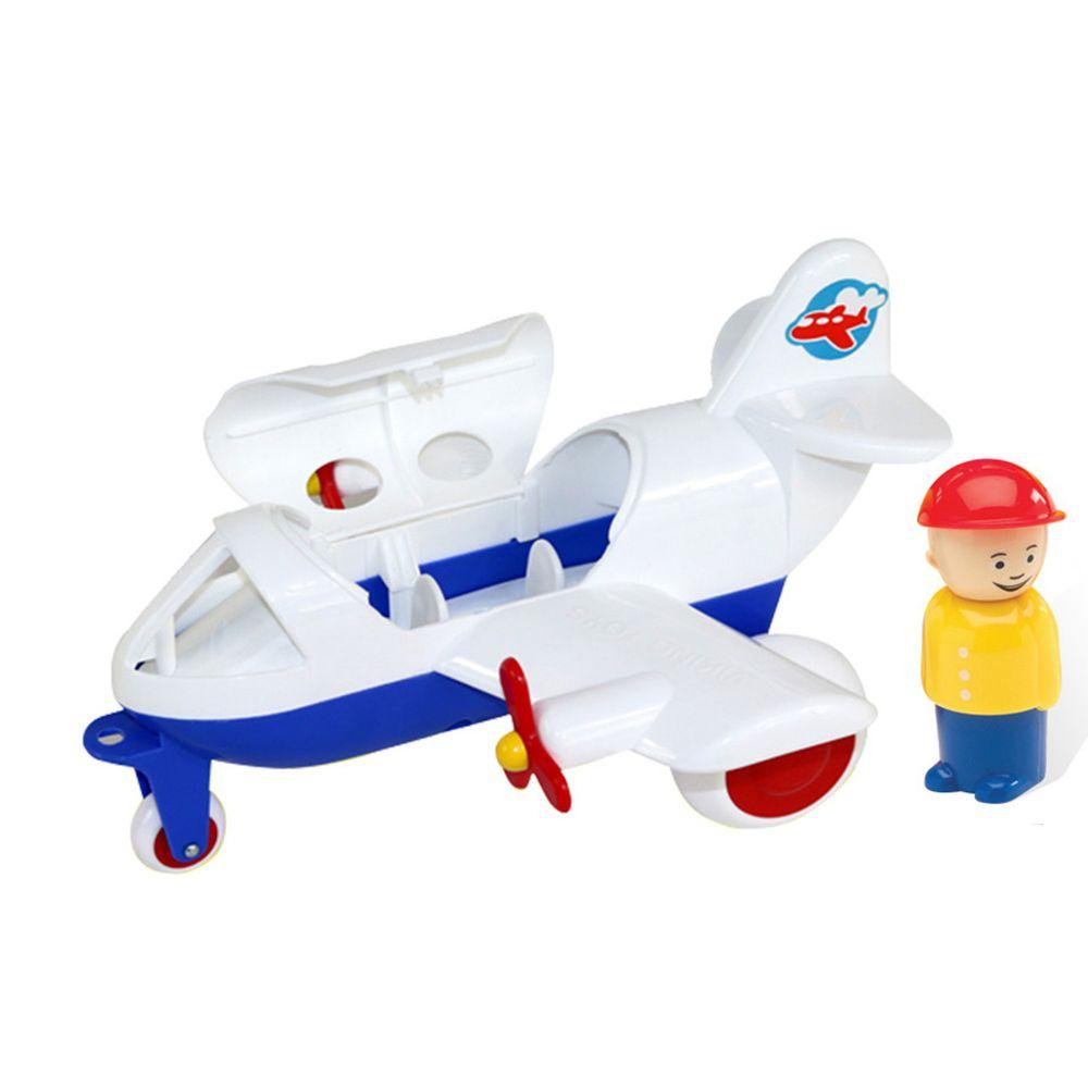 瑞典Viking toys - Jumbo飛行1號機(含2隻人偶)-30cm