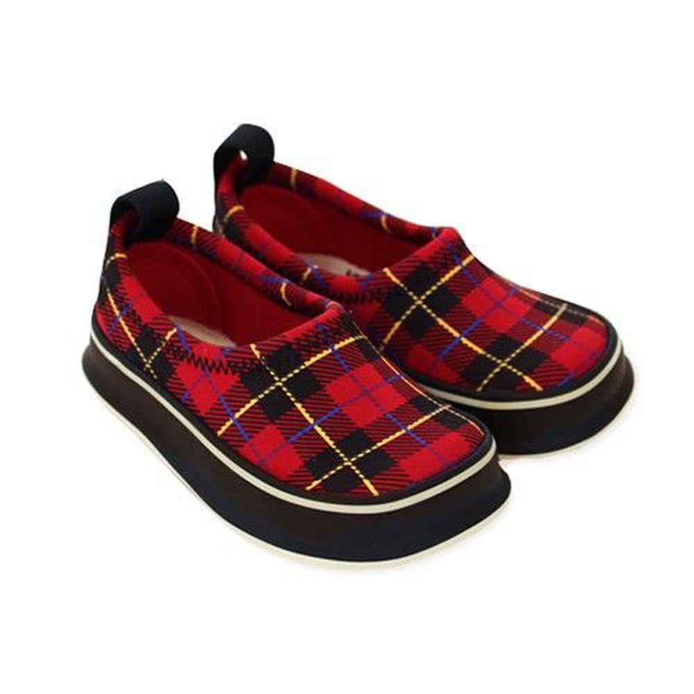 SkippOn - 兒童休閒機能鞋 - 經典系列-百搭紅格紋