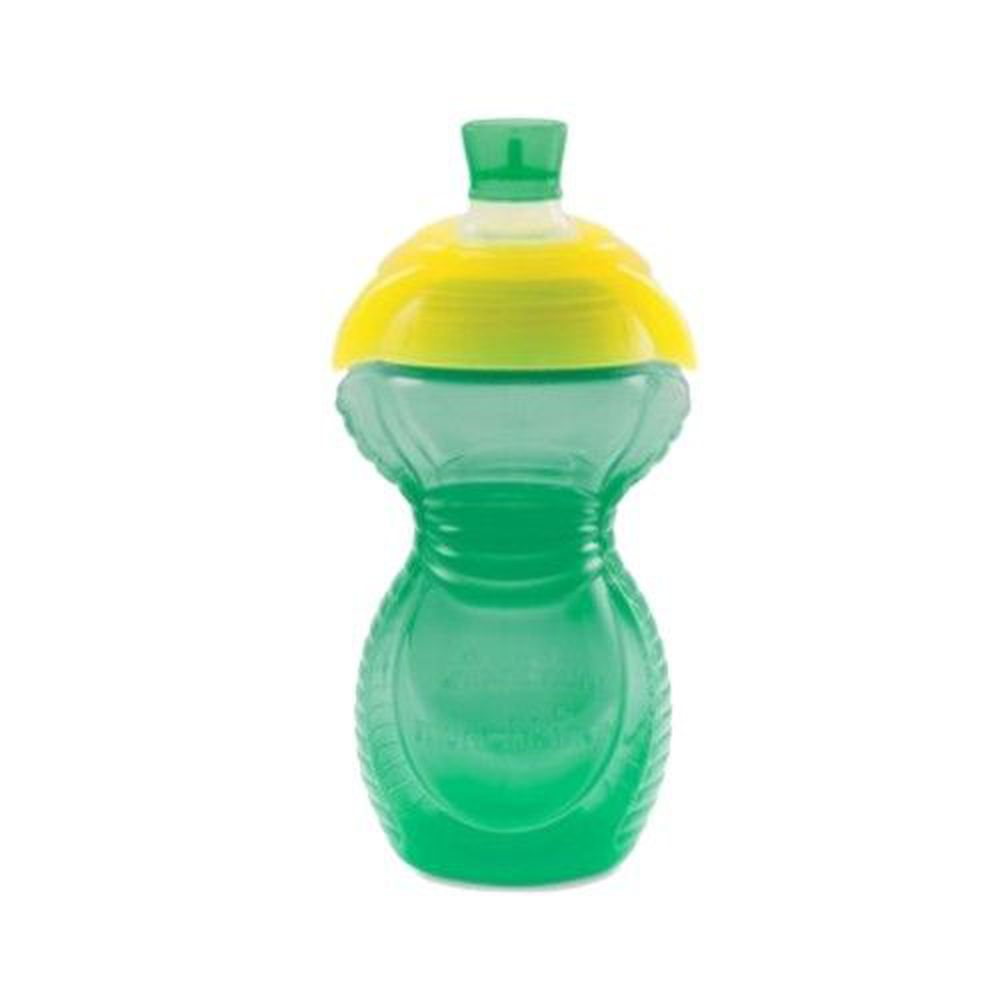 美國 munchkin - 貼心鎖鴨嘴防漏杯266ml-綠 (9M+)
