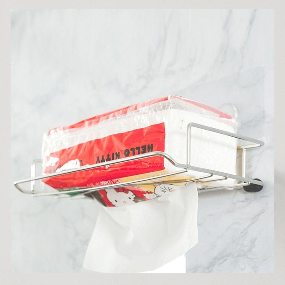 完美主義 Peachy Life - 台灣製304不鏽鋼面紙盒抽取架-peachylife霧面無膠痕