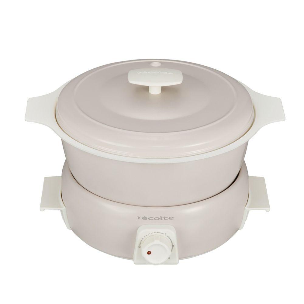 麗克特 recolte - Tanto 1.9L調理鍋(含章魚燒烤盤)-簡約白