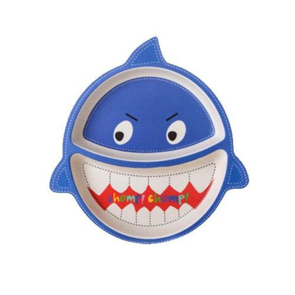 coeco - 竹纖維動物造型兒童餐盤-鯊魚