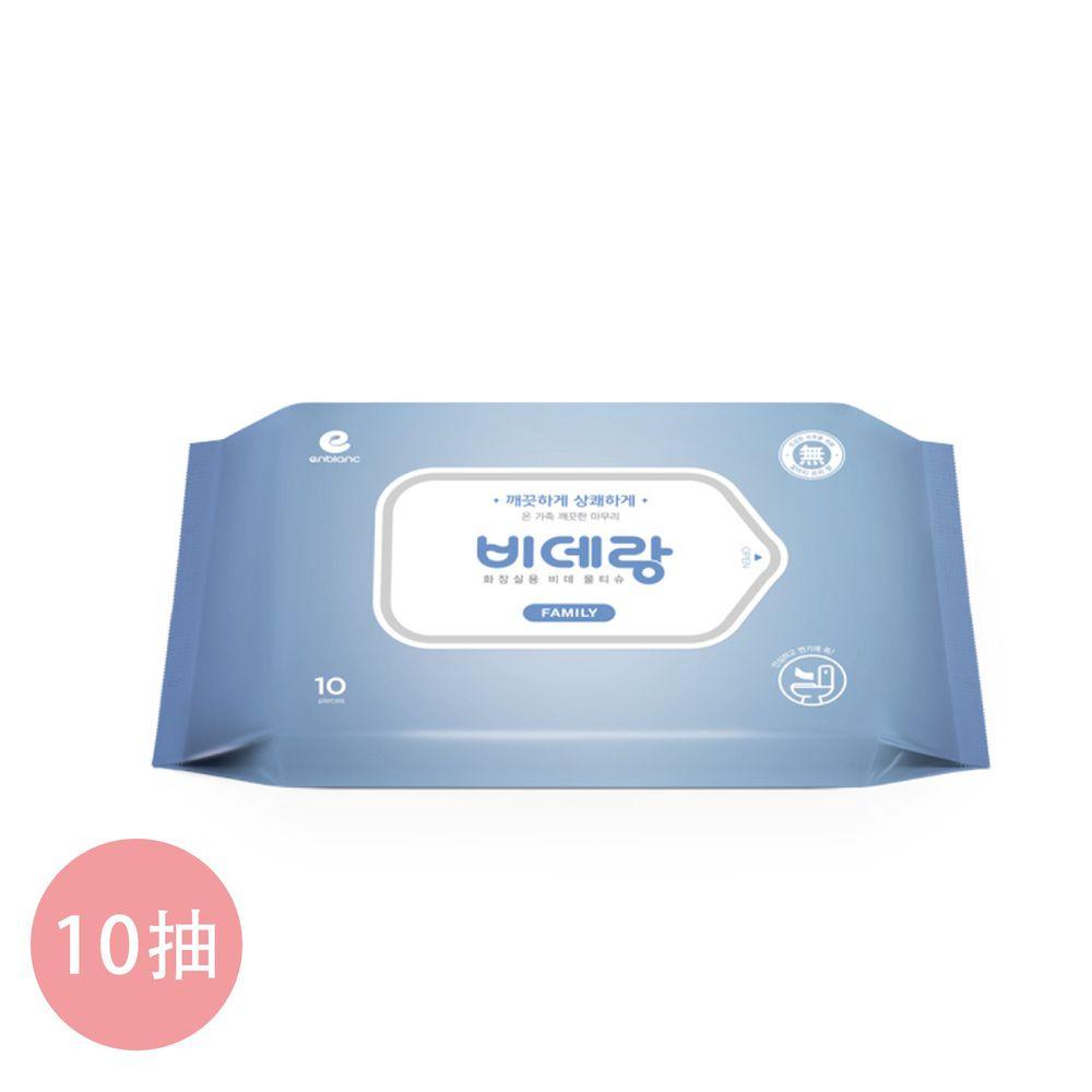 韓國 ENBLANC - ENBLANC 無蓋隨身包濕式衛生紙|牡丹花香|10抽-無蓋隨身包-藍色-單包(效期:2021/04/06)