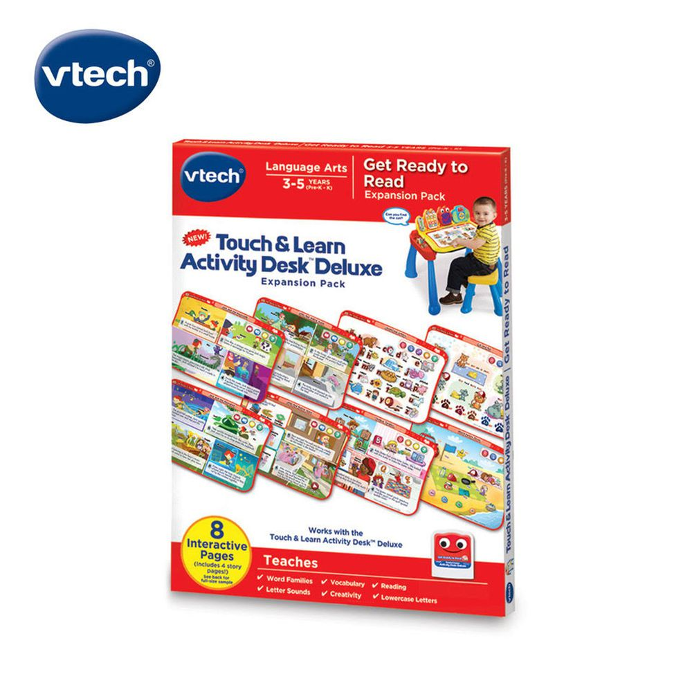Vtech - 互動學習點讀桌圖鑑套卡組-啟蒙童謠組曲(2-4Y)