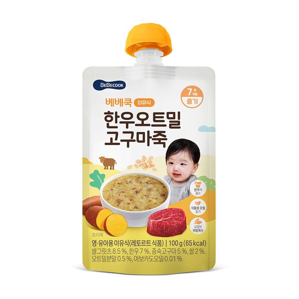 BEBECOOK 寶膳 - 韓牛地瓜燕麥粥-100g