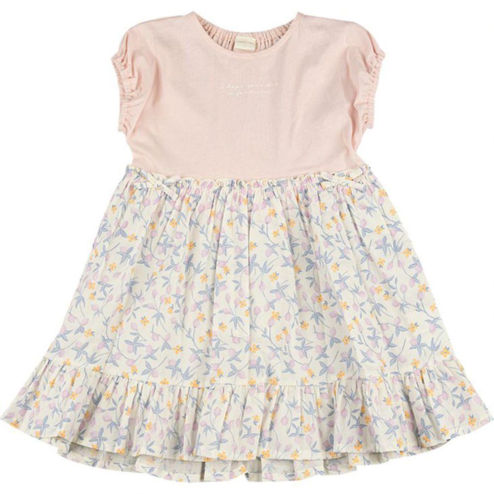 akachan honpo - 拼接洋裝-粉紅色