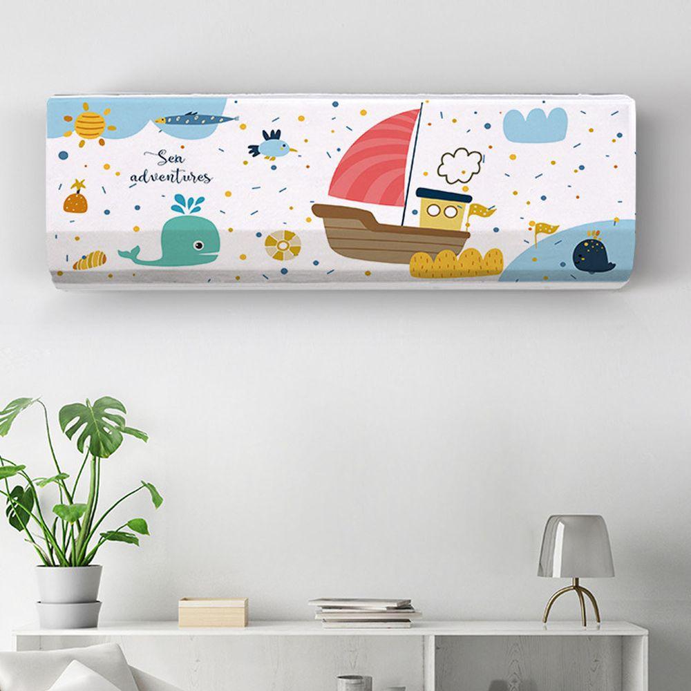 家用冷氣防塵罩-航海小船