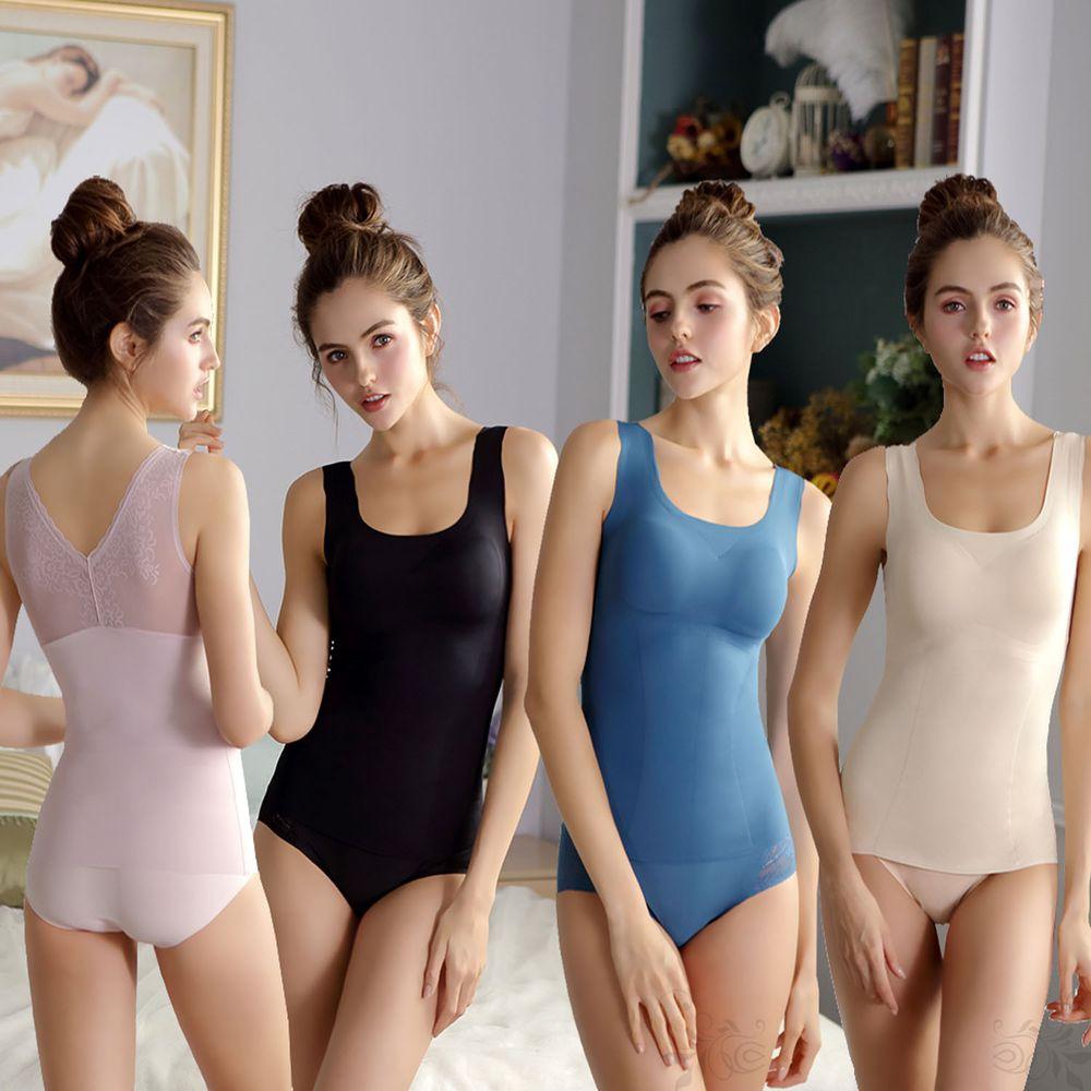 香茉 CHANMODE - 熱銷冠軍3D逆齡體雕衣-4件組-背心款-黑/粉/膚/藍-背心x4件