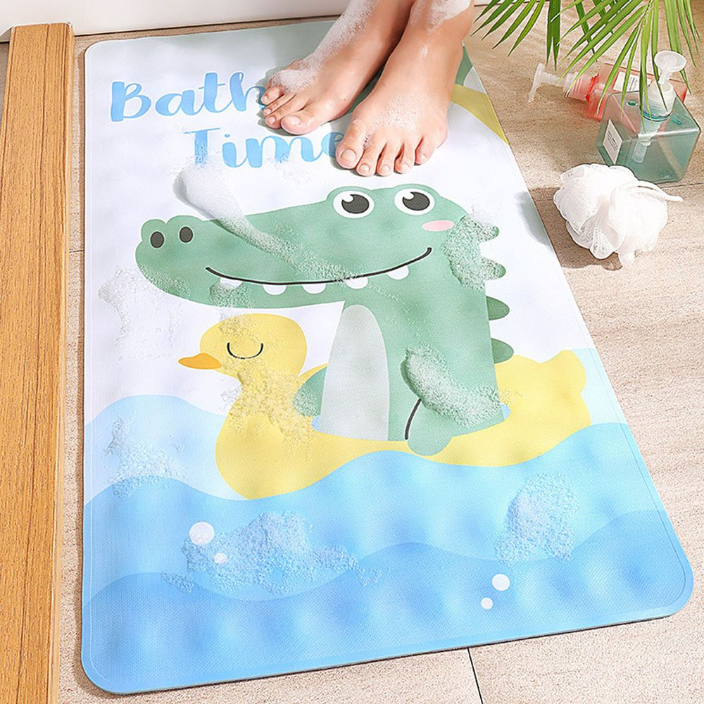浴室超強吸力止滑腳踏墊-可愛鱷魚 (40x70cm)