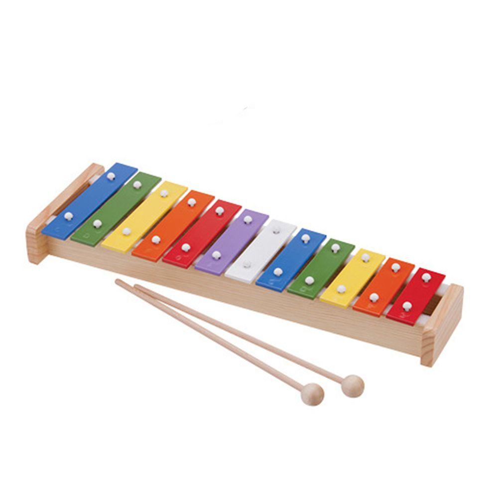荷蘭 New Classic Toys - 幼兒12音彩虹敲敲鐵琴