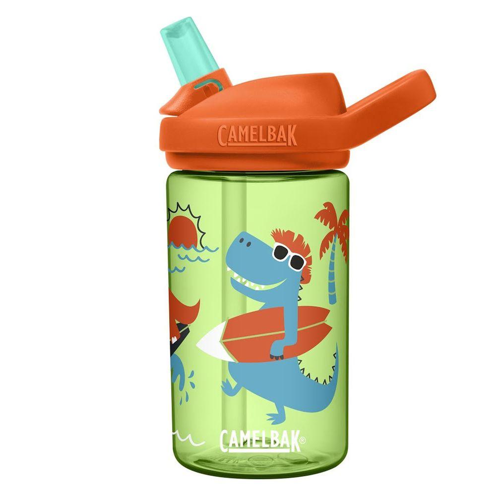 CamelBak - EDDY+ 兒童吸管運動水瓶-衝浪恐龍 (400ml)-專案