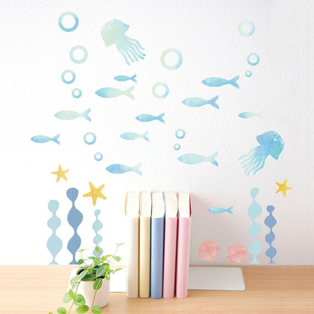 日本 TOKYO STICKER - 日本製 質感無邊框壁貼 [基本款]-漸層海洋 (A4)