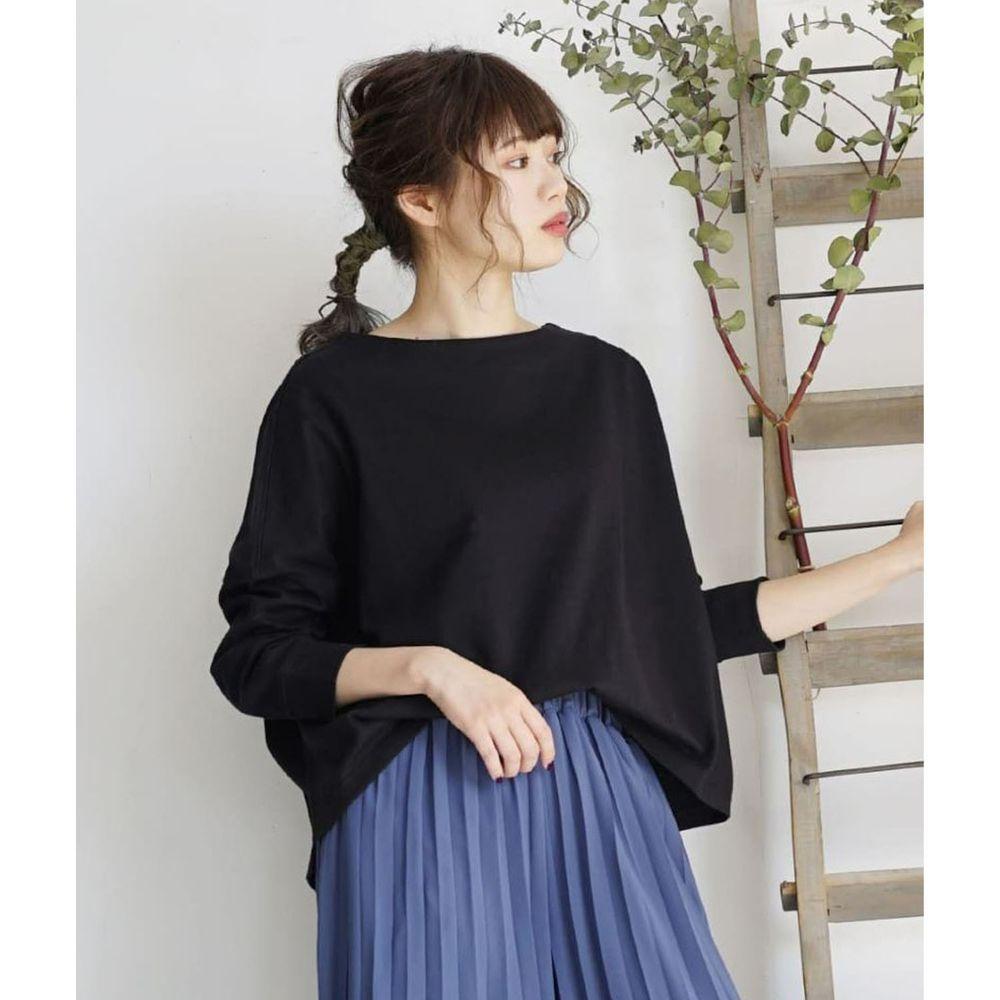 日本 zootie - [撥水/撥油加工] 抗油污耐洗純棉長袖上衣-黑
