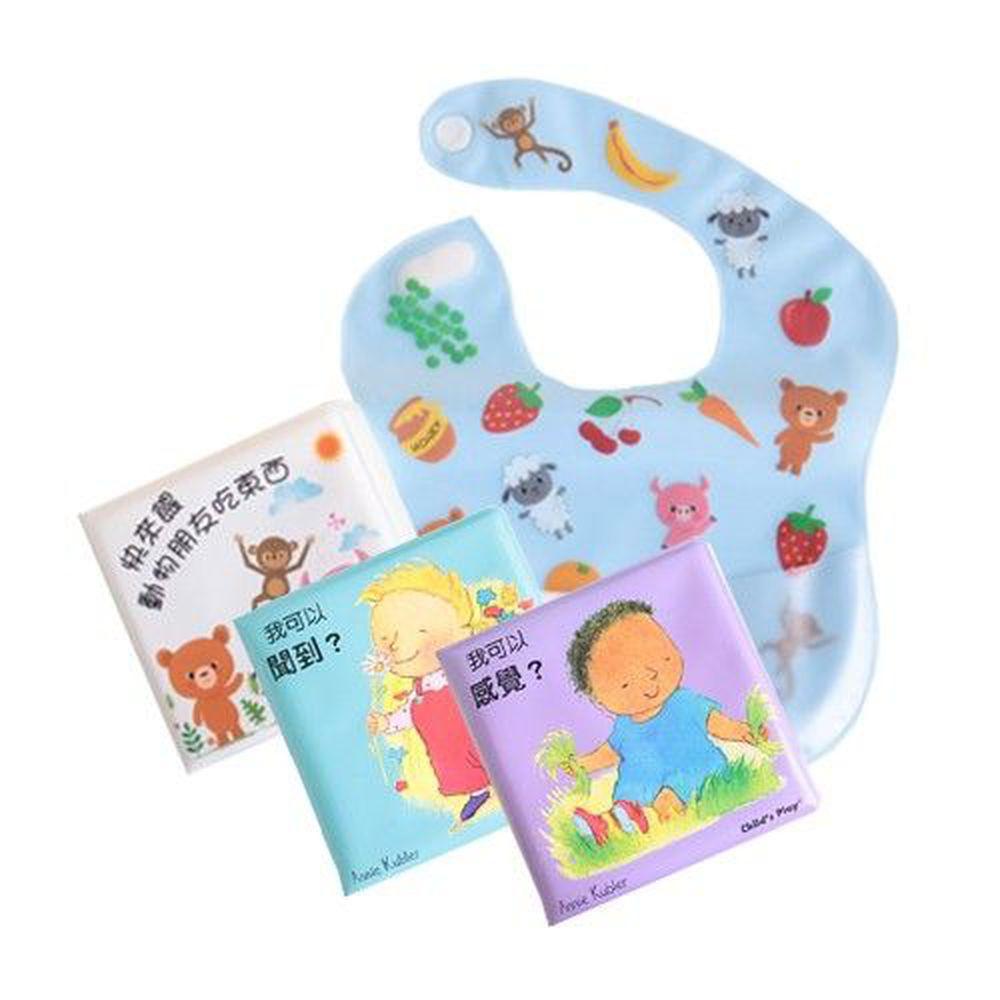 華碩文化 - 【洗澡書優惠組】-快來餵動物朋友吃東西+我可以聞到&感覺套組