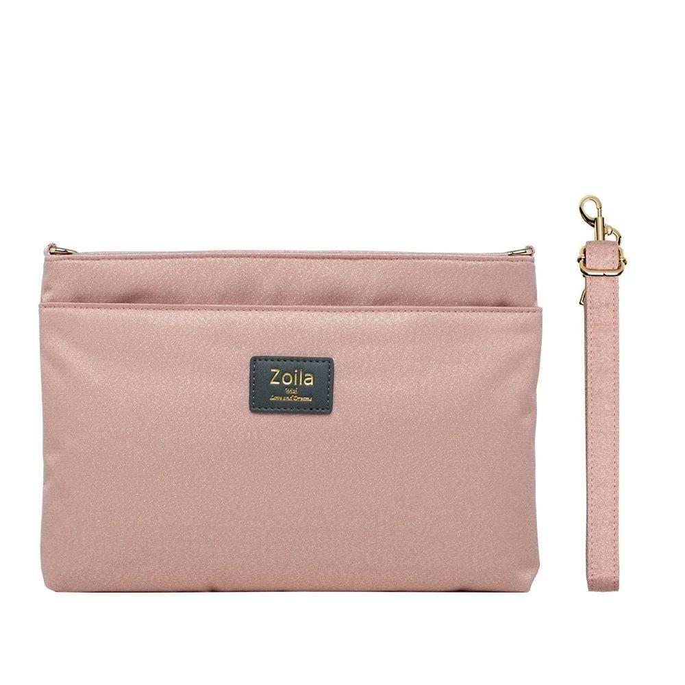 Zoila - 雙層斜背包-閃耀粉-輕量美型媽媽包