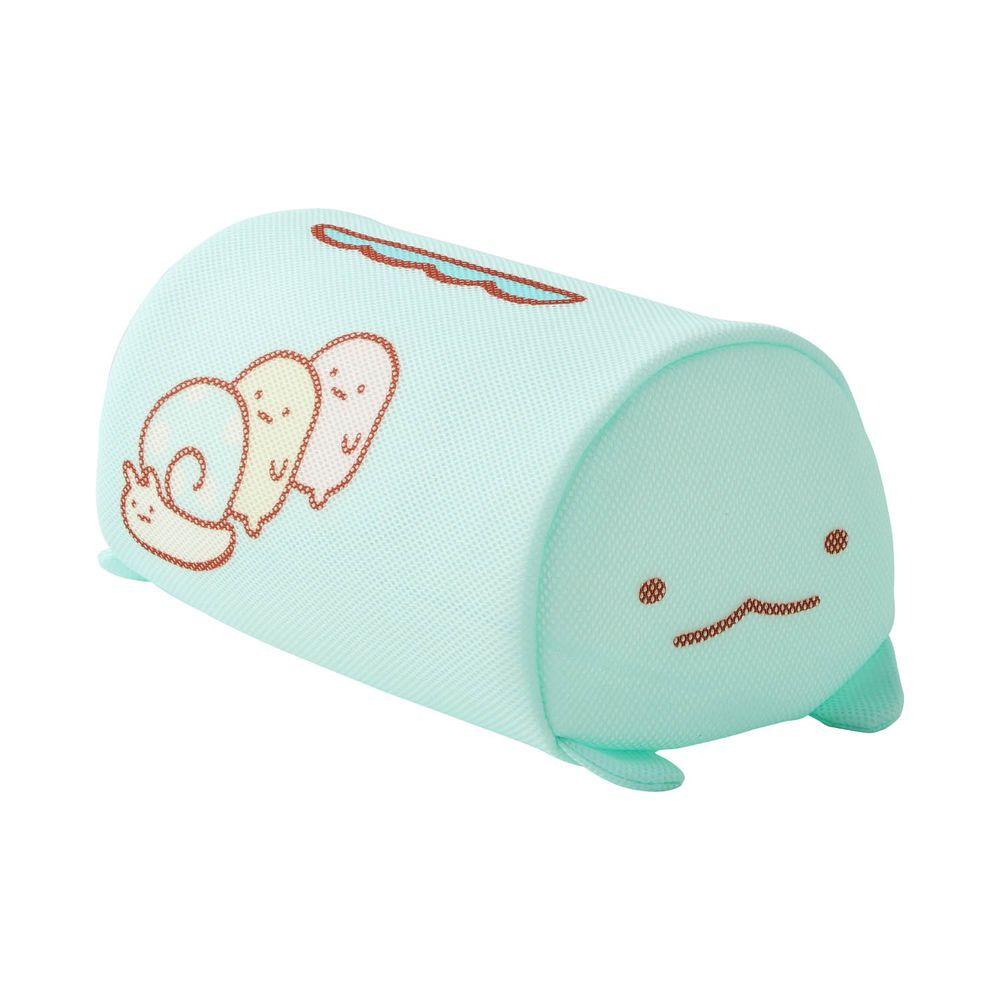 日本千趣會 - 角落生物 日本製圓筒洗衣網/衣物收納袋-偽蜥蜴 (L(20x32x18cm))