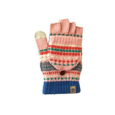 日本製2way保暖手套-大人款-粉紅圖騰