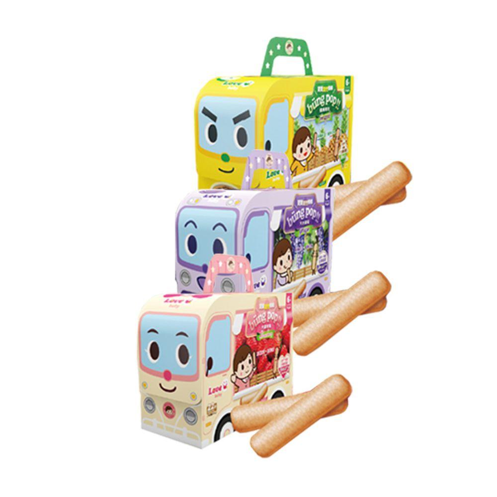 米大師 - 寶寶果然棒棒精選三入組(產地直送系列)-鳳梨/葡萄/草莓-2.5gX22包/盒*3