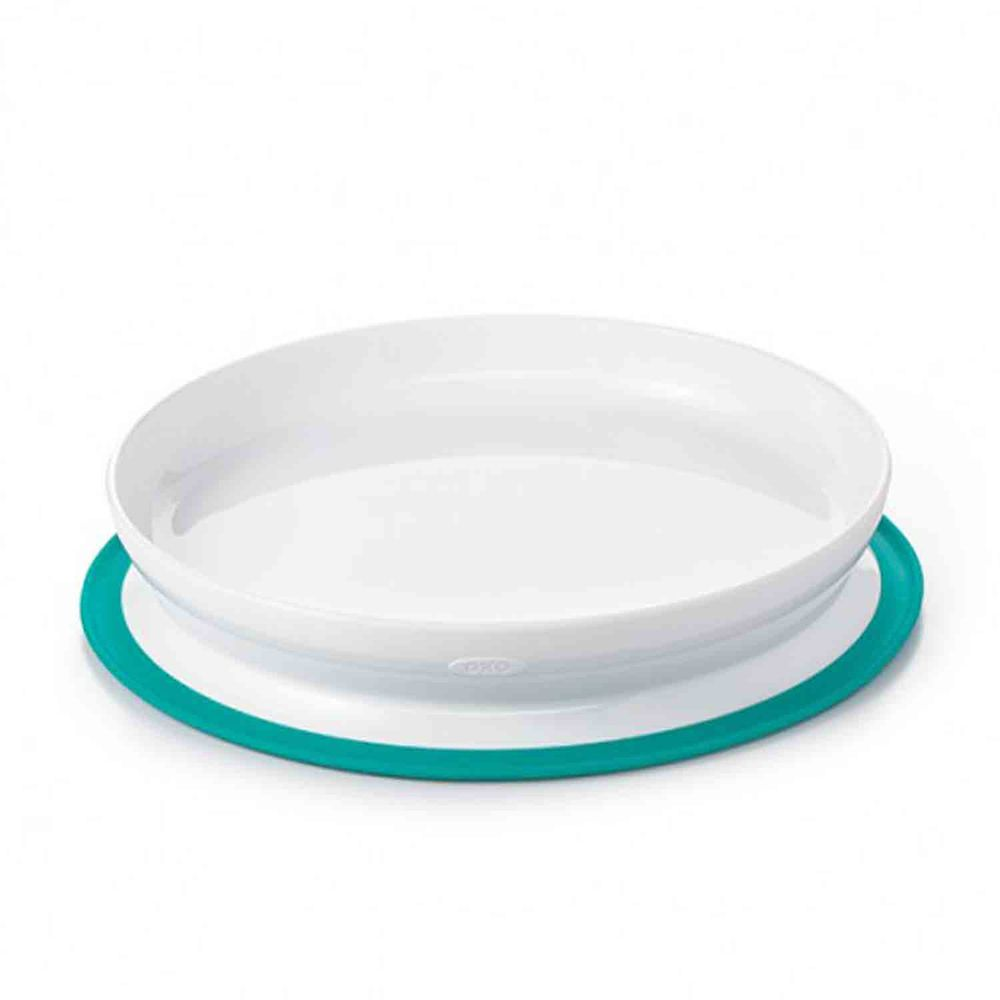 美國 OXO - 好吸力學習餐盤-靓藍綠