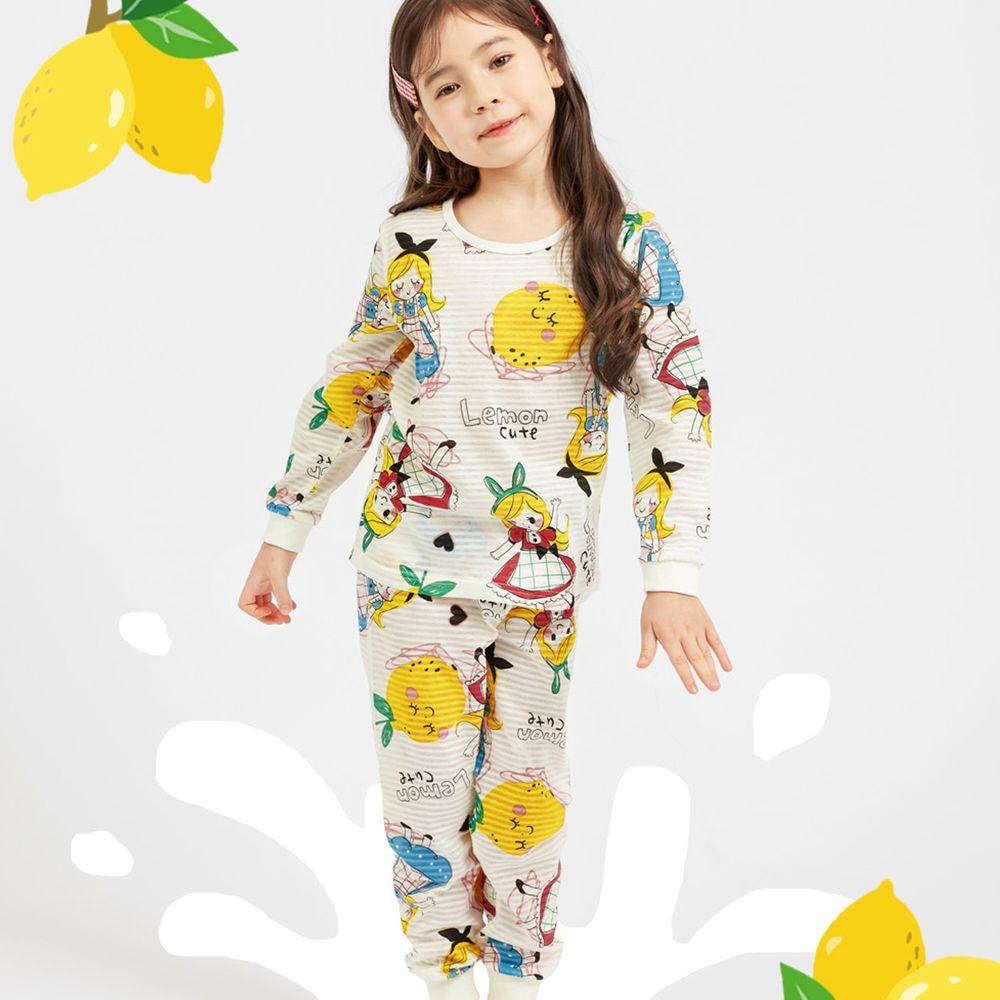 韓國 Mellisse - 韓製輕薄透氣9分袖家居服(無螢光棉)-檸檬女孩