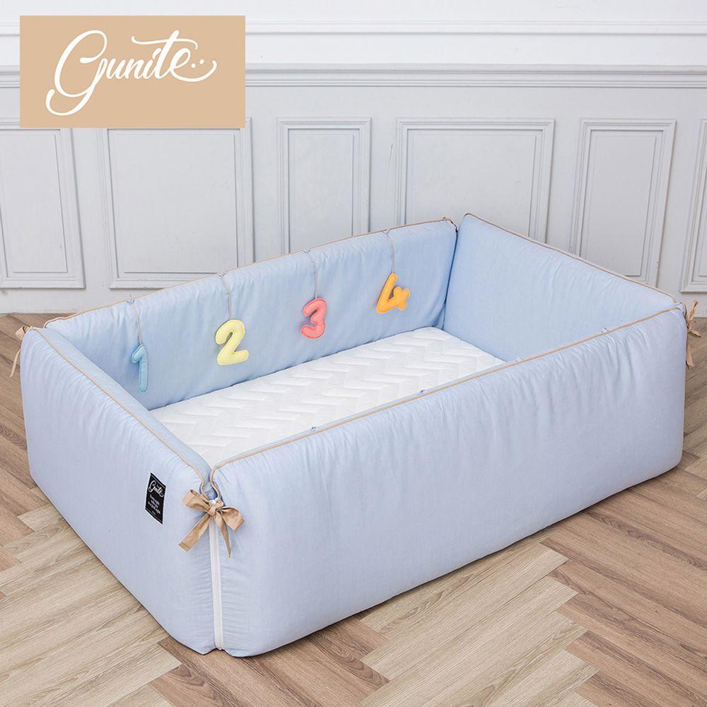 gunite - 沙發嬰兒床_安撫陪睡式0-6歲-丹麥藍