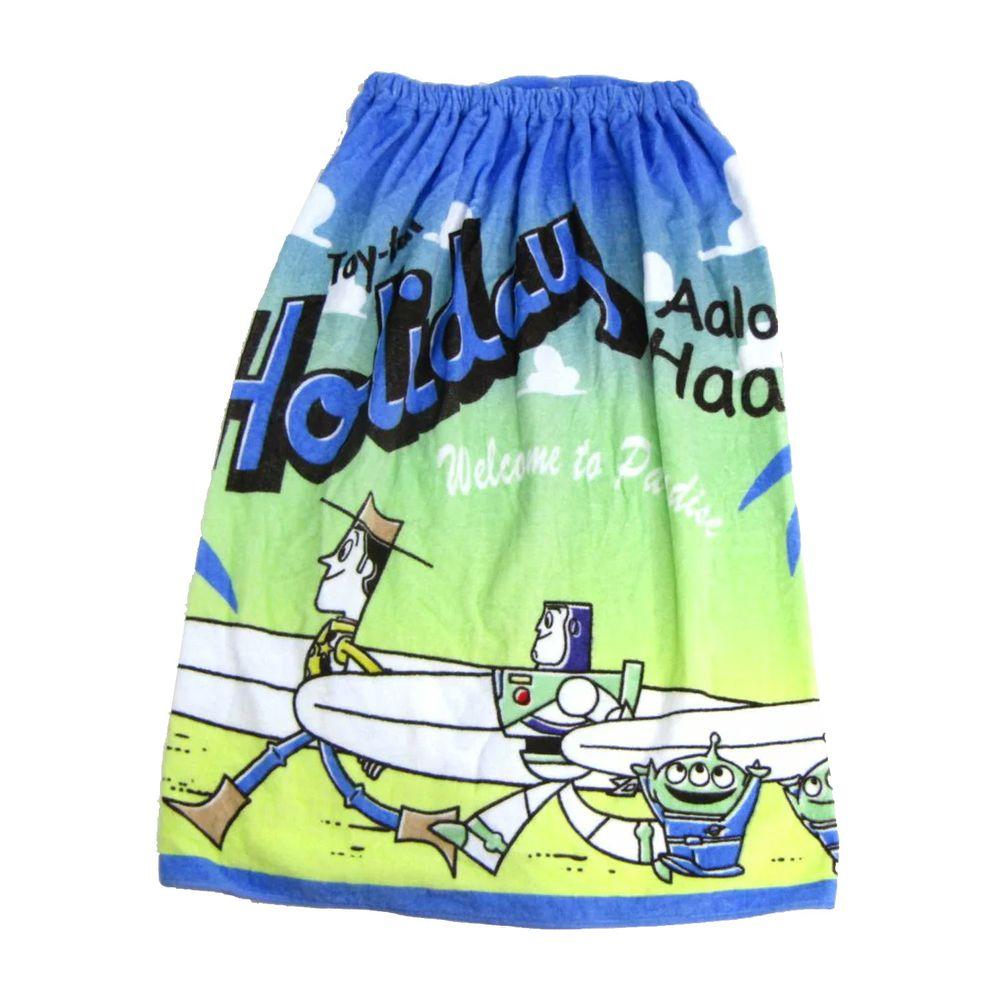 日本服飾代購 - 純棉海灘/游泳浴巾/浴袍 (附釦)-玩具總動員度假 (長80cm(國小中年級以上))