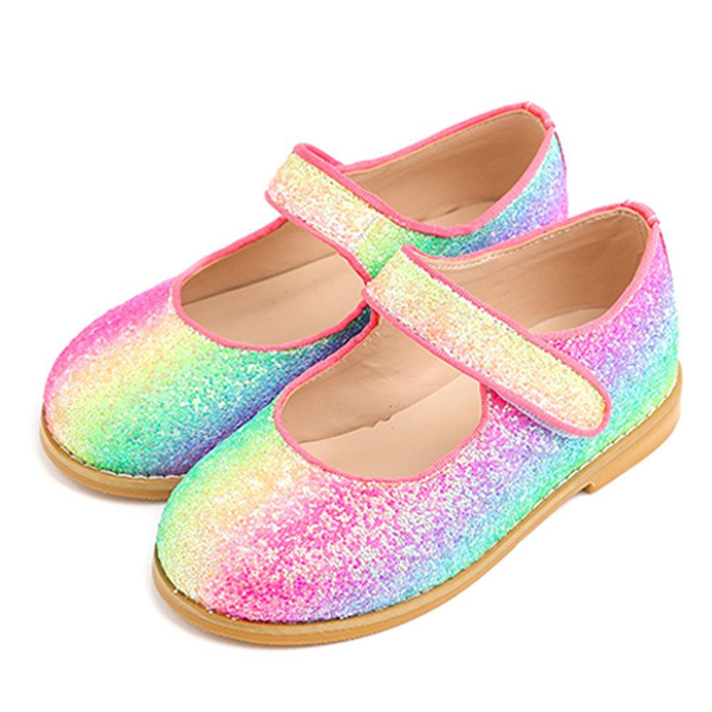 韓國 OZKIZ - 閃亮漸層彩虹皮鞋