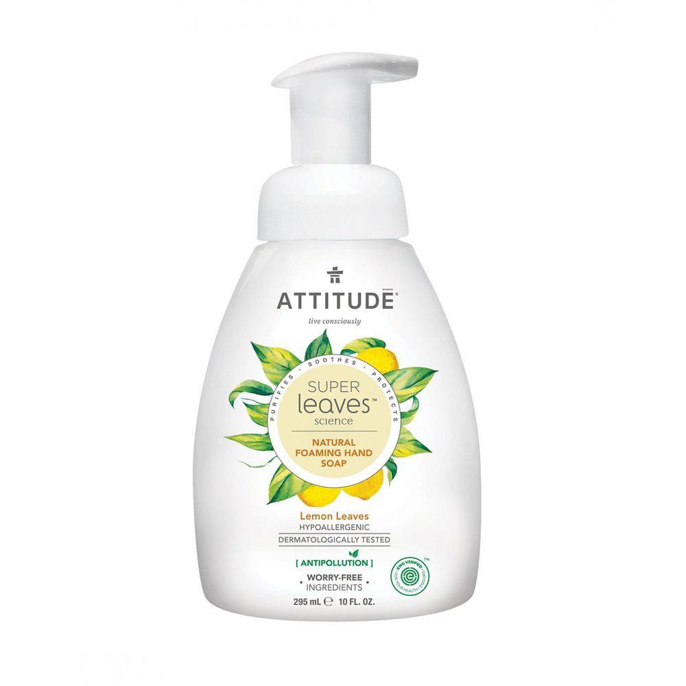 加拿大 ATTITUDE 艾特優 - Super leaves泡沫洗手乳-檸檬葉-295ml
